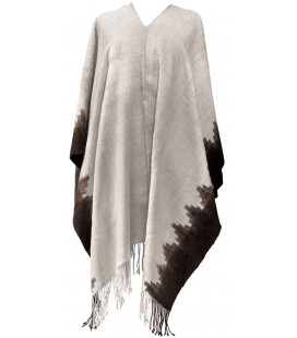 """Quetena Light"" Poncho - Rustic Lama Wool"