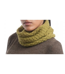 Knitted snood - 100% alpaca fiber