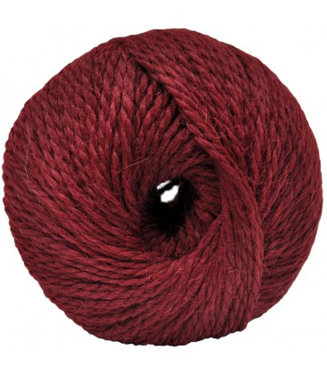 Alpaca and Sheep Wool - Dark red - 100 gr.
