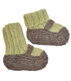 Hand knitted Baby Shoes - Alpaca Wool