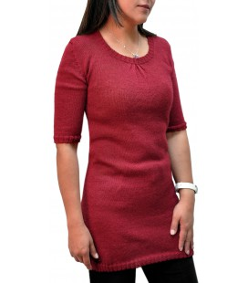 Knit tunic 3/4 sleeves - Alpaca