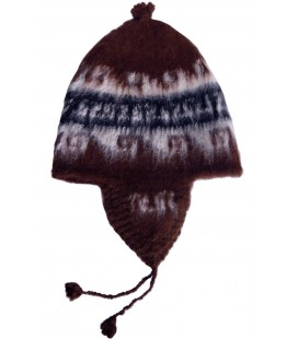 Andean Beanie in Natural Colors - Llama and Alpaca