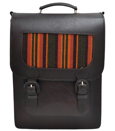 Vertical Briefcase - Genuine Leather with aguayo