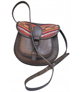 Purse - Genuine leather with aguayo